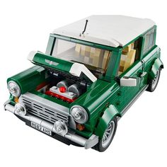 I'm still in love with the Lego Volkswagen Camp Van, but my brick heart has been stolen by the new Lego Mini Cooper. I'm very happy that Lego is continuing to release iconic automobiles within their Creator line. Vw Bus, Volkswagen, Vw Camper, Lego Cars, Lego Auto, Model Building Kits, Building Toys, Lego Technic, Mini Cooper Pictures