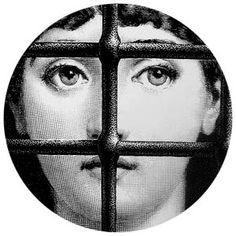 Lina, a girl Fornasetti saw in a 19th century French magazine, and used in alot of his artwork. Piero Fornasetti was a Milanese painter, sculptor, interior decorator, engraver of books and a creato…