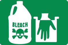 bleach_icon Natural Bleach, Clorox Bleach, Bleach Uses, Human Tissue, Endocrine Disruptors, Skin Burns, Asthma Symptoms, Skin Rash, Cleaning Materials