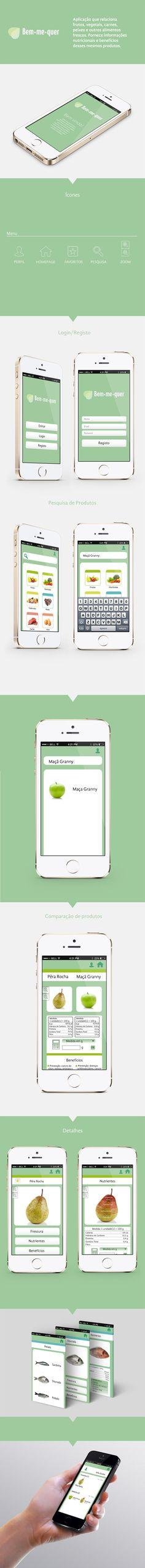 Aplicação Mobile: Bem-me-quer on Behance Web Design, Behance, Design Web, Website Designs, Site Design