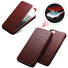 Retro 5s PU Leather Flip Capa Fundas Case For Apple iPhone  5 5S SE Ultra Thin Full Protective Back Cover For iPhone 5S SE Shell. $3.39