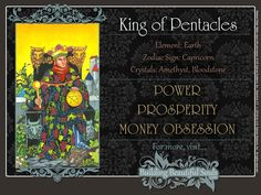 THE King of Pentacles TAROT CARD MEANINGS - UPRIGHT& REVERSED! The King of Pentacles Tarot includes LOVE, NUMEROLOGY, & SYMBOLS for more accurate TAROT READING.