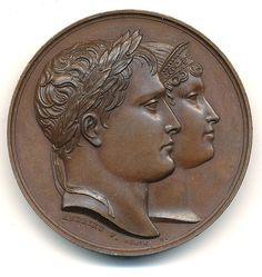 Médaille gravée par Andrieu pour commémorer la naissance du Roi de Rome.