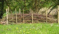 Ökologischer Sichtschutz und Mini-Biotop Totholzhecke