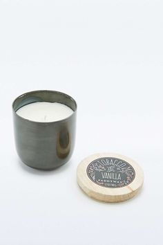 Paddywax Tobacco and Vanilla Candle Pot in Gun Metal