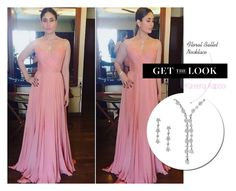 Get the Look: #KareenaKapoor - #TwoStrand #Diamond #Necklace by rajjewels-content on Polyvore