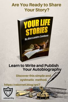 Your Life Stories- Writing Guide - Valornet Writing Guide, Writing A Book, Make Money Online, How To Make Money, List Of Questions, Herb Gardening, Learning To Write, Bonsai Trees, Amazon Kindle