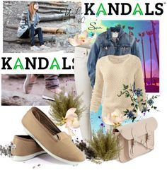 """SHOP - KANDALS"" by ladymargaret ❤ liked on Polyvore"