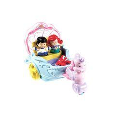 Amazon.com: Fisher-Price Little People Disney Princess: Ariel's Coach: Toys & Games