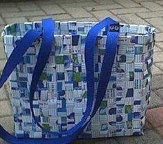 Jetzt habe ich auch eine Tasche aus Milchtüten, die muss ich Euch unbedingt zeigen...