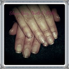 Silver french manicure, subtle yet classy. # gelish