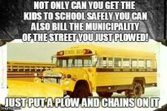 ours have the chains... just need the plow! LMAO!