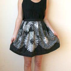 High Waisted Sparkle Mini Skirt Sz S 27. $26.00, via Etsy.
