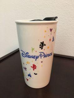 Disney Parks Starbucks Tall Ceramic Tumbler Travel Mug 12 Oz Cup With Lid for sale online Starbucks Christmas, Disney Parks, Travel Mug, Tumbler, Ceramics, Mugs, Ebay, Ceramica, Pottery