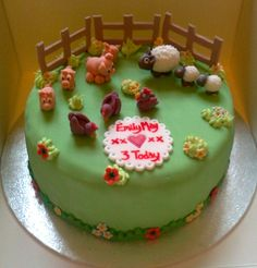 Farmyard birthday cake