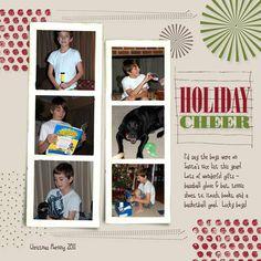 Holiday Cheer Scrapbook Layout  My Creative Chat Blog