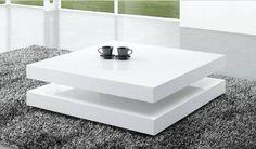 Deze hoogglans witte salontafel is ontworpen in een stijlvol design. Caragoza wordt gegarandeerd de blikvanger in elke ruimte. De vierkante salontafel is uitgevoerd in MDF hout en is hoogglans afgewerkt.