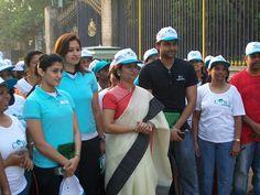 Ashwini Ponnappa and Jwala Gutta at Walkathon for Women Empowerment