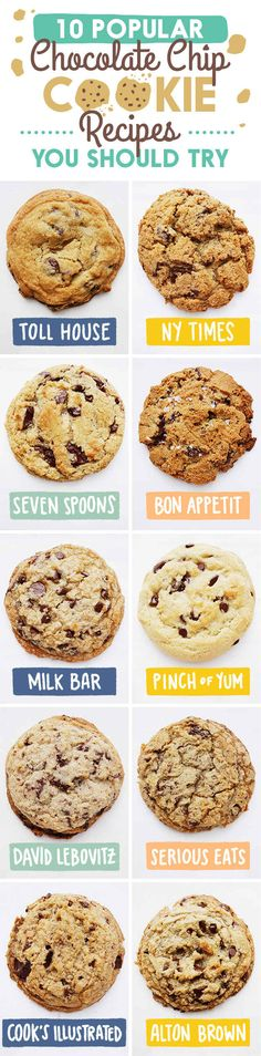 We Held A Chocolate Chip Cookie Taste-A-Thon - 10 chocolate chip cookie recipes