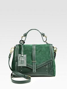 Tory Burch Suede & Leather Satchel