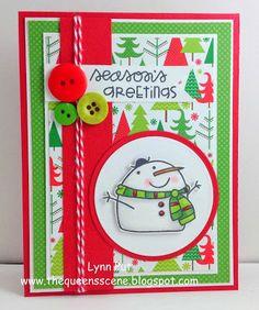 Season's Greetings card by LYNN PUT - Paper Smooches - Swanky Snowdudes