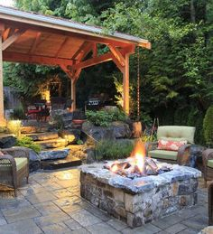 Splurging on a fire or water feature for the yard makes outdoor living more enjoyable and romantic.