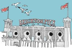 want to go back Design*Sponge Guide to Brighton, UK Brighton City, Brighton Rock, Brighton And Hove, Sponge City, Places To Travel, Places To Go, Vintage Travel Posters, Best Cities, Adventure Is Out There