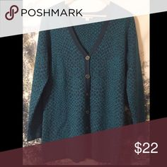 Boyfriend cardigan - Isaac Mizrahi Isaac Mizrahi peacock green snake jacquard boyfriend cardigan. So thick and cozy but totally classy and chic! Like-new condition. Retails for $62.50. Isaac Mizrahi Sweaters Cardigans