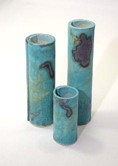 Blue Tubes: Set M by JohnRitchieCeramics on Etsy