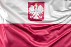 Flag of Poland with coat of arms Free Photo