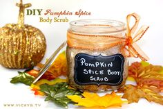 How to Make a Pumpkin Spice Body Scrub