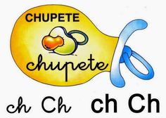 Chupete Ch ch Spanish Alphabet, Pre Writing, Clip Art, Names, Letters, Album, Education, School, Letters Of Alphabet