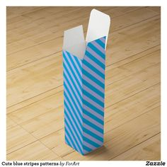Shop Cute blue stripes patterns wine box created by ForArt. Wine Gift Boxes, Champagne Bottles, Wine Making, Surface Design, Blue Stripes, Card Stock, Gift Wrapping, Patterns, Cute