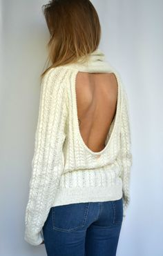 Solstice Backless Sweater For Love and Lemons - Fashion Addict Designer Store Backless Sweater, For Love And Lemons, Fashion Addict, Store, My Style, Sweaters, Shopping, Collection, Design