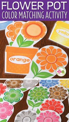 Flower Color Sorting and Math Activities for Preschool and Pre-K This hands-on color sorting activity is perfect for your preschool, pre-k, and tot school classroom