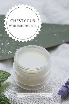 Home-made, non-toxic, chesty rub. For coughs, colds and congestion. Respiratory support and all natural ingredients, using essential oils