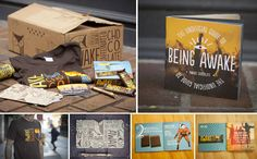 pretty cool campaign designed around the product AwakeChocolate - The Dieline