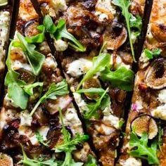 Fig Caramelized Onion Pizza | Nutmeg Nanny Fig Recipes, Pizza Recipes, Vegetarian Recipes, Dinner Recipes, Cooking Recipes, Healthy Recipes, Pasta Pizza, Fig Pizza, Fig Flatbread