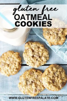 Crunchy, chewy, and oh-so delicious, these Gluten-Free Oatmeal Cookies will disappear in no time. This recipe is simple to make and doesn't use any expensive ingredients or labor intensive steps.