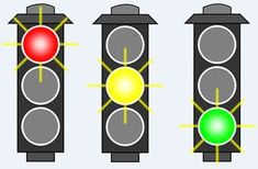 Timing Light Sequences: Build a Traffic Light Controller with an Arduino MEGA - Projects Traffic Light Sign, Green Traffic Light, Arduino, Childrens Sermons, Transportation Theme, Paper Games, Stop Light, Party Props, Project Management