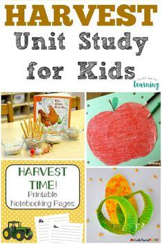 A Fun Harvest Unit Study for Kids!
