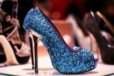 blue high heels<3