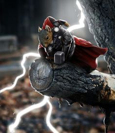 Thor Squirrel. Squirrels are pretty dastardly though so I really think supervillain squirrels would have been more appropriate.