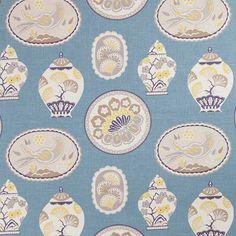 Warwick Fabrics : CHERRY GARDEN, Colour POWDER