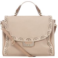 Blush scallop edge satchel ($49) ❤ liked on Polyvore