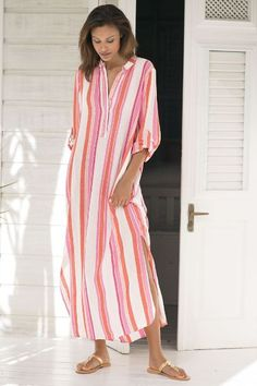 Our South Coast Caftan is perfect whether lounging, beaching or relaxing poolside! Add a couple of chic accessories and you are ready for drinks and dinner.