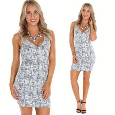 Get ready for a night out with friends in our Tweed V Neck Bodycon just $34.99 at #tria or online with FREE shipping! #shopnow #fashion #dress #ootd #sophieandtrey