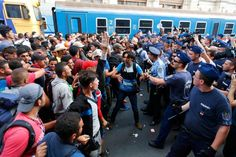 The station closing prompted anger and disbelief among the waiting refugees.