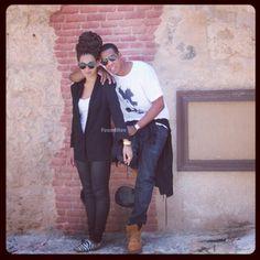 Fashionable couple Beyonce and JayZ ♥ them