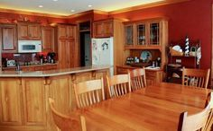 Kitchen , Vibrant Orange Kitchen Walls : Burnt Orange Kitchens Walls